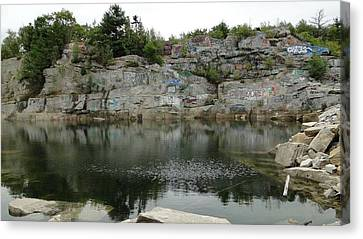 Abandoned Quarry  Canvas Print