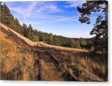 Abandoned Canvas Print - Abandoned Railroad Tracks by EXparte SE