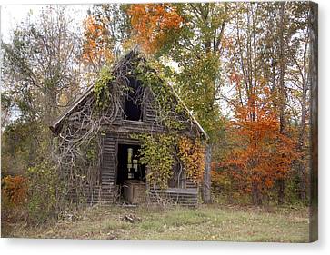 Canvas Print featuring the photograph Abandoned by Robert Camp