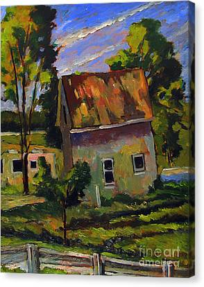 Abandoned Rural Canvas Print by Charlie Spear