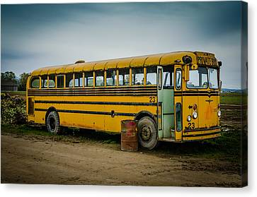 Abandoned School Bus Canvas Print by Puget  Exposure