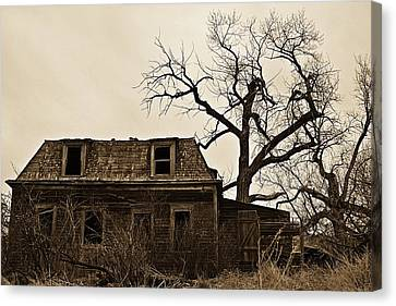 Abandoned Canvas Print - Abandoned Sepia by Miss Judith