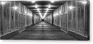 Abandoned Strip Mall Panoramic Canvas Print by Tom Mc Nemar