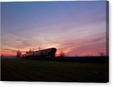 Canvas Print featuring the photograph Abandoned Train  by Eti Reid