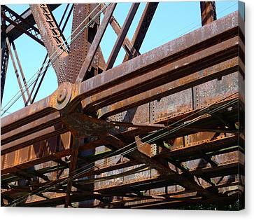Abandoned - Whitford Railroad Bridge Canvas Print by Richard Reeve
