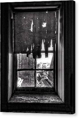 Abandoned Window Canvas Print