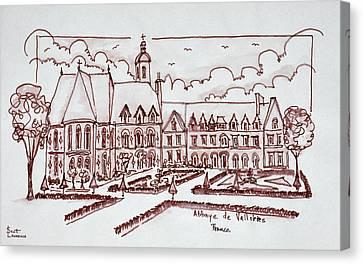 Abbaye De Valloires, Argoules, France Canvas Print