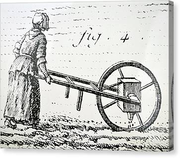 Abbe Soumille's Seed Drill Canvas Print by Universal History Archive/uig