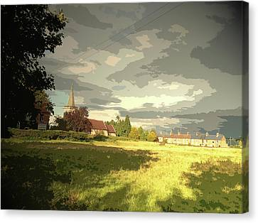 Historic Site Canvas Print - Abbey Fields And St Michaels Church In, Historic Site by Litz Collection
