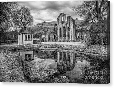 Abbey Reflections Canvas Print by Adrian Evans