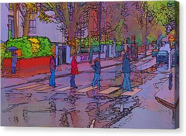 Crosswalk Canvas Print - Abbey Road Crossing by Chris Thaxter