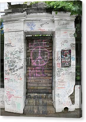Abbey Road Graffiti Canvas Print