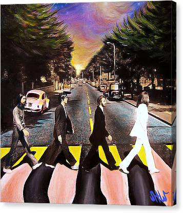 Yesterday Canvas Print - Abbey Road by Steve Will