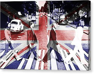 Abbey Road Union Jack Canvas Print by Dan Sproul
