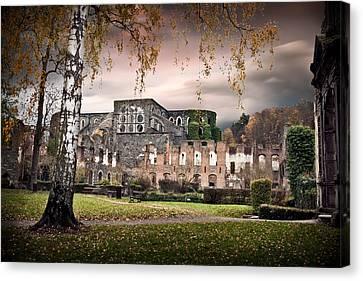 abbey ruins Villers la ville Belgium Canvas Print