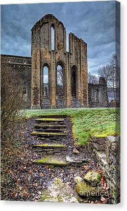 Abbey Steps Canvas Print by Adrian Evans