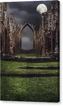 Abbey Steps Canvas Print by Amanda Elwell