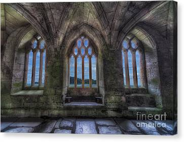 Abbey View Canvas Print by Adrian Evans