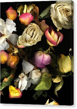 Abbey's Flowers Canvas Print by Peter Ciccariello