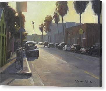 Abbot Kinney Sunset Canvas Print by Anna Rose Bain