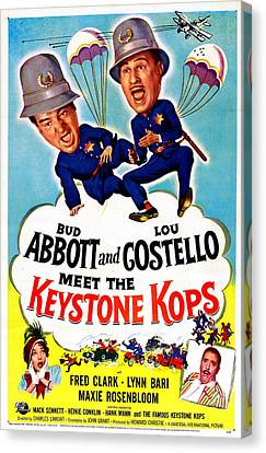 Abbott And Costello Meet The Keystone Canvas Print by Everett