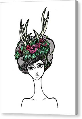 Updo Canvas Print - Abby by Jody Pham