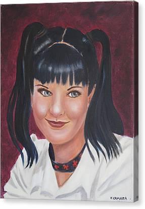 Abby Of Ncis Canvas Print by Kathie Camara