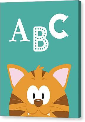 Abc Animals Canvas Print by Tamara Robinson