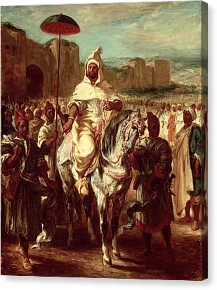 Abd Ar-rahman, Sultan Of Morocco, 1845 Oil On Canvas Canvas Print by Ferdinand Victor Eugene Delacroix