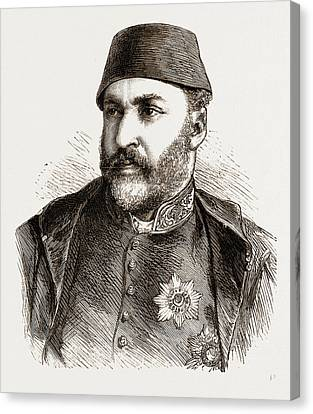 Abd-ul-aziz, The Late Sultan Of Turkey Canvas Print by Litz Collection