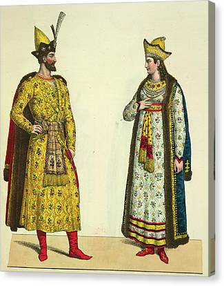 Abdallah And His Wife Canvas Print