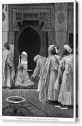 Moroccan Canvas Print - Abdelaziz Of Morocco (1878-1943) by Granger