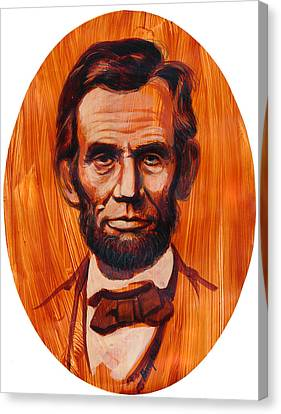 Lincoln Drawings Canvas Print - Abe Lincoln  by Harry West