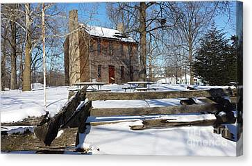 Abe Lincoln's Postville Courthouse Canvas Print