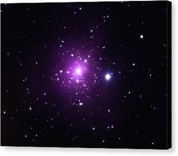 Abell 383 Galaxy Cluster Canvas Print by X-ray: Nasa/cxc/caltech/a.newman Et Al/tel Aviv/a.morandi & M.limousin; Optical: Nasa/stsci, Eso/vlt, Sdss