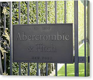 Abercrombie And Fitch Store In Paris France Canvas Print