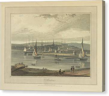Aberdeen City And Port Canvas Print