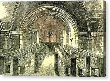 Aberdeen East Church The Crypt 1885 Uk Canvas Print by English School