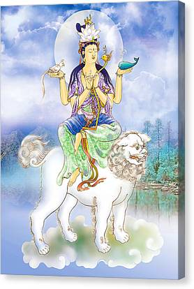 Canvas Print featuring the photograph Abhetri Kuan Yin  by Lanjee Chee