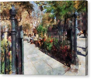 Abingdon Square Park Greenwich Village Canvas Print by Susan Savad