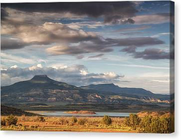 Abiquiu New Mexico Pico Pedernal In The Morning Canvas Print by Silvio Ligutti