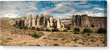 Abiquiu New Mexico Plaza Blanca In Technicolor Canvas Print by Silvio Ligutti