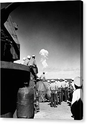 Able Day Atom Bomb Test Canvas Print by Us Navy