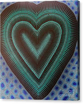 Canvas Print featuring the painting Aboriginal Inspirations 5 by Mariusz Czajkowski