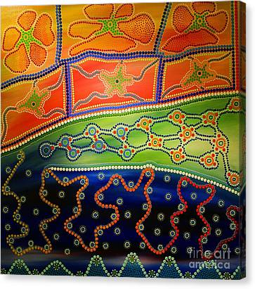 Aboriginal Inspirations 7 Canvas Print