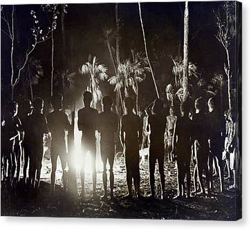 Aborigines At Corroboree Canvas Print by Underwood Archives