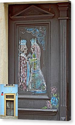 About Love. The Door. Next To Charles Bridge. Prague. Czech Republic. Canvas Print by Andy Za