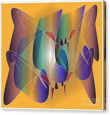 Canvas Print featuring the digital art About Time by Iris Gelbart