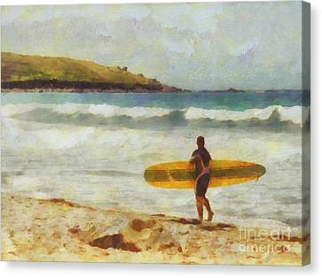 About To Surf Canvas Print