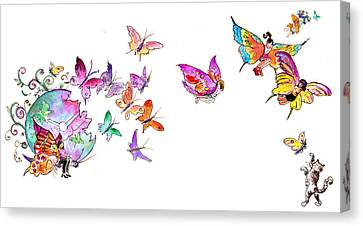 About Women And Girls 20 Canvas Print by Miki De Goodaboom
